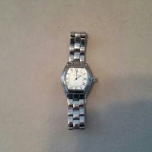 Ladies silver Peugeot watch